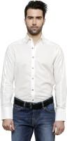 Desinvolt Formal Shirts (Men's) - Desinvolt Men's Solid Formal White Shirt