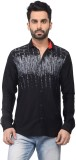 Ranger Men's Solid Casual Black Shirt