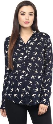 Rockland Life Women's Printed Casual Blue Shirt