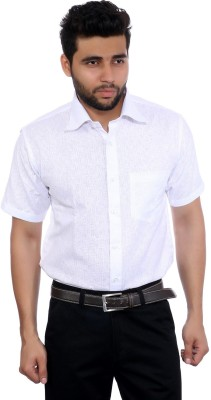 Studio Nexx Men's Woven, Checkered Formal White Shirt