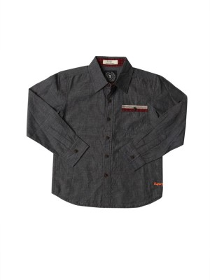 SuperYoung Boy's Solid Casual Shirt