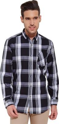 Slub By INMARK Men's Checkered Casual Black, White Shirt