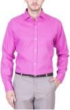 PSK Men's Solid Formal Pink Shirt