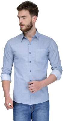 Yellow Submarine Men's Printed Casual Blue Shirt