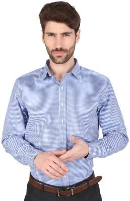 Big Tree Men,s Checkered Formal Blue Shirt
