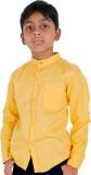 Ice Boys Boys Solid Casual Yellow Shirt