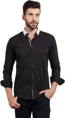 SOLEMIO Men's Solid Casual Black Shirt