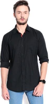 RPB Men's Solid Casual Black Shirt