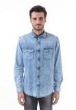 Monte Carlo Men's Solid Casual Blue Shir...
