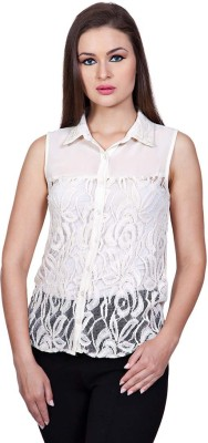 Stylestone Women's Solid Casual White Shirt