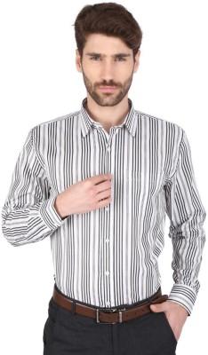 Big Tree Men,s Striped Formal Black Shirt