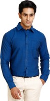 Zenrio Formal Shirts (Men's) - Zenrio Men's Solid Formal Dark Blue Shirt