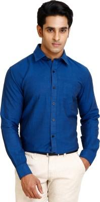 Zenrio Men's Solid Formal Dark Blue Shirt
