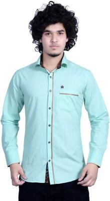 Bucci Men's Solid Casual Light Green Shirt