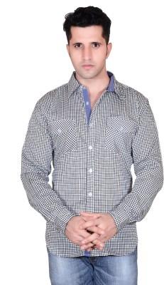 Denimize Men's Printed Casual White Shirt