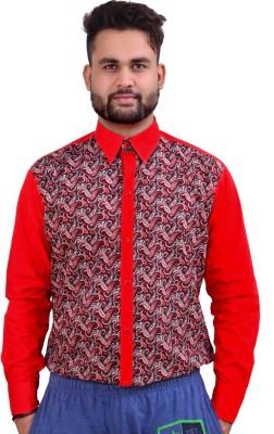 Home Shop Gift Men's Printed Festive Red Shirt