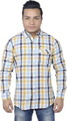 Round Bats Men's Checkered Casual Multicolor Shirt