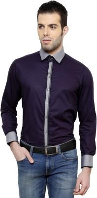 RICHARD COLE Men's Solid Formal Purple Shirt