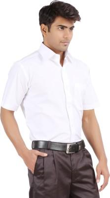 LG Men's Solid Formal White Shirt