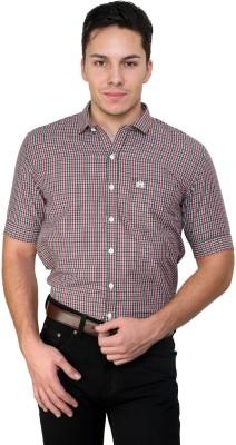 Cotton County Men's Checkered Casual Grey Shirt