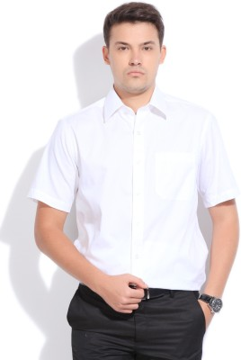 John Players Men's Solid Formal White Shirt