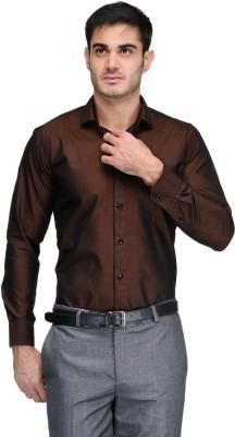 Harvest Men's Solid Formal Gold Shirt