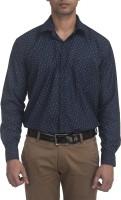Trensup Formal Shirts (Men's) - Trensup Men's Printed Formal Blue Shirt