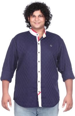 Ciroco Men's Checkered Casual Blue Shirt