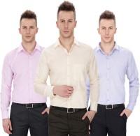 Regal Fit Plus Formal Shirts (Men's) - Regal Fit Plus Men's Solid Formal Multicolor Shirt(Pack of 3)