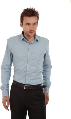 Bendiesel Men's Solid Formal Light Blue Shirt