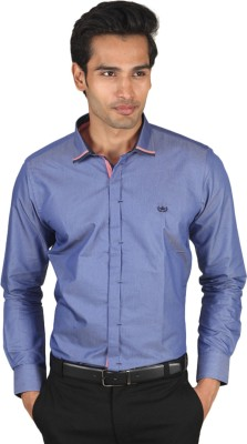 LSD Casuals Men's Solid Casual Blue Shirt