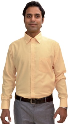 AVS Polo Men's Solid Casual Beige Shirt