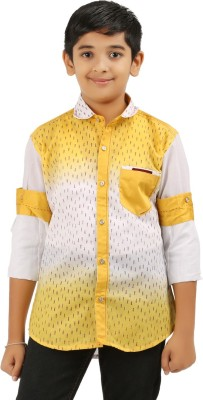 Cub Kids Boy's Printed Casual Yellow, White Shirt