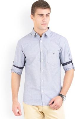 Bay Ridge Men's Solid Casual Grey Shirt