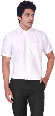 Mark Anderson Men's Printed Casual, Festive, Wedding, Party White Shirt