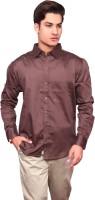 V.o Couture Formal Shirts (Men's) - V.O COUTURE Men's Solid Formal Brown Shirt