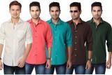 Suspense Men's Solid Casual Multicolor S...