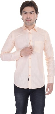 Lee Mark Men's Solid Casual Beige Shirt