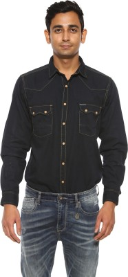 Pepe Jeans Men's Solid Casual Blue Shirt