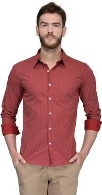 Yellow Submarine Men's Printed Casual Red Shirt