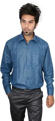 Culture Plus Men's Solid Formal Blue, White Shirt