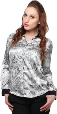 XnY Women's Printed Party Multicolor Shirt