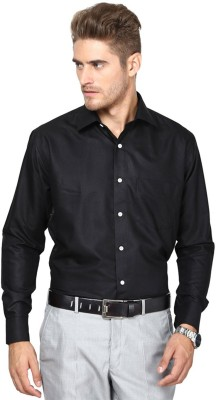 Protext Men,s Solid Formal, Casual, Party Black Shirt