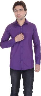 Lee Mark Men's Solid Casual Purple Shirt