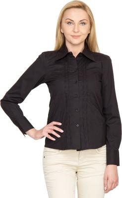 Species Women,s Solid Formal Black Shirt