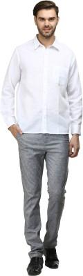 FX Jeans Co Men's Solid Formal White Shirt