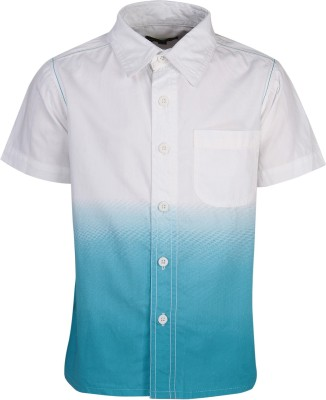 Bells and Whistles Boy's Printed Casual White Shirt