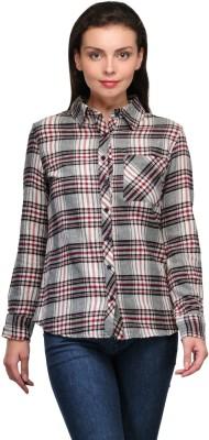 Zachi Women's Checkered Casual Multicolor Shirt