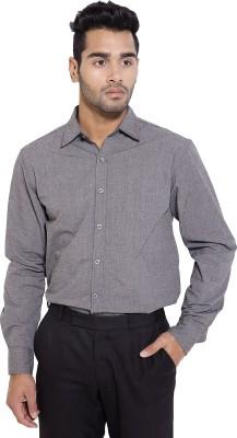 Deeksha Men's Solid Formal Grey Shirt