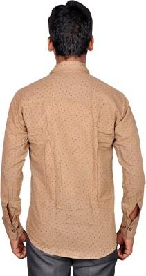 Royal Fashion Men's Printed Casual Brown Shirt